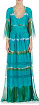 Alberta Ferretti WOMEN'S TIE-DYED SILK LONG DRESS