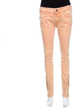 Zadig and Voltaire Orange Overdyed Denim Skinny Eva Snow Jeans M