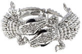 Kenneth Jay Lane Crystal Alligator Hinged Cuff