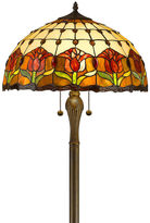 AMORA Amora Lighting AM002FL18 Tiffany Style Tulips Floor Lamp 18-Inch Shade