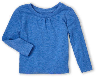 French Toast (Infant Girls) Blue Long Sleeve Crew Neck Tee