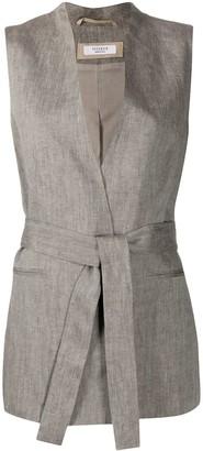 Peserico Belted Wrap-Style Waistcoat