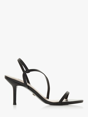Dune Mojo Leather Asymmetric Strap Slingback Sandals