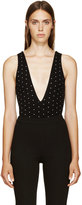 Givenchy Black Cross Print Bodysuit