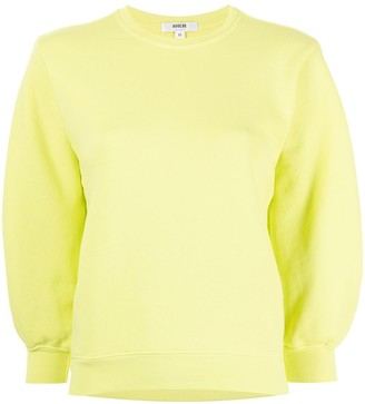 AGOLDE Thora puff sleeve cropped sweatshirt
