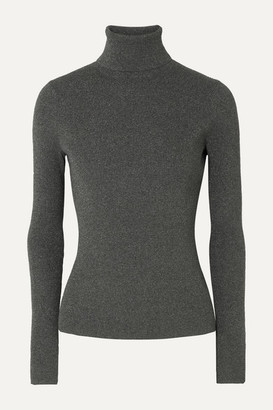 3.1 Phillip Lim Metallic Ribbed-knit Turtleneck Sweater - Gray