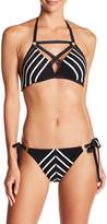 Robin Piccone Stripe Halter Bikini Top