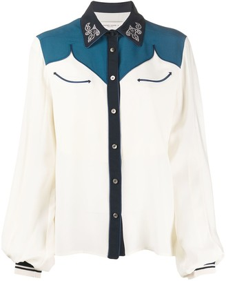 Golden Goose Embellished Collar Western Shirt