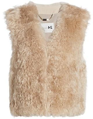 The Fur Salon Manzoni 24 For Rabbit Fur & Lamb Fur Collarless Vest