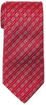 Missoni Red Chevron-Stripe Silk Tie