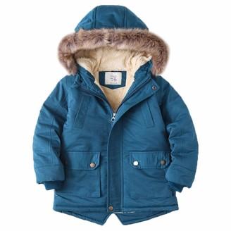 Didriksons Madi Boys Winter Parka Coat Dark Denim Blue