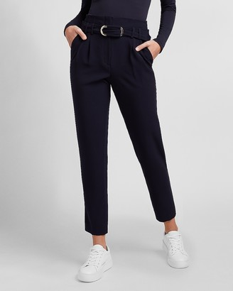Express Super High Waisted Belted Ankle Pant