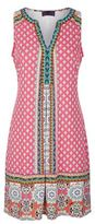 Hale Bob Bead Embellished V-Neck Dress