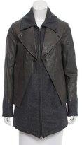Cut25 by Yigal Azrouël Leather Wool-Blend Jacket