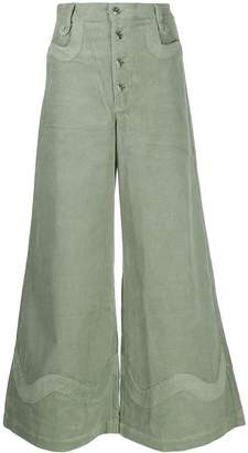 House of Sunny wide leg corduroy trousers