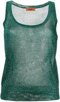 Missoni metallic knit tank top - women - Polyester/Cupro/Viscose - 40