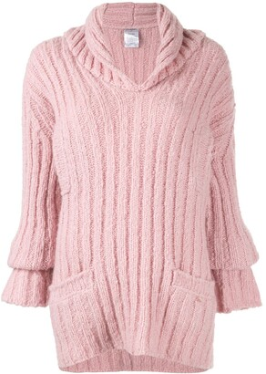 Chanel Pre Owned Ribbed Knit Jumper