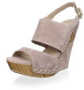 Pura Lopez Women's Nailhead Platform Wedge Sandal