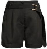 Escada Sport Twill Self-Belt Shorts