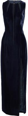 Elie Tahari Jemra Chain-embellished Cutout Velvet Maxi Dress