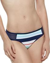 Splendid Mesh-Side Striped Swim Bottom
