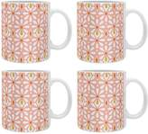 Deny Designs Fleurette Radiant Ceramic Coffee Mugs (Set of 4)