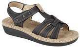 Boulevard Womens/Ladies Touch Fastening T Bar Casual Sandals