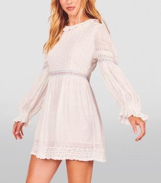 LoveShackFancy Jullian Broderie Anglaise Mini Dress