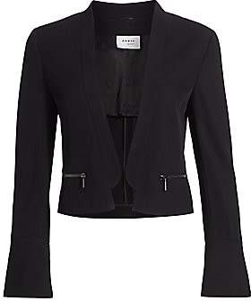 Akris Punto Women's Spencer Trumpet-Cuff Wool Jacket