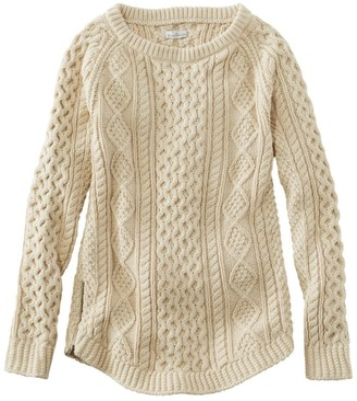 L.L. Bean Women's Signature Cotton Fisherman Tunic Sweater