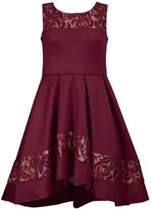 Bonnie Jean Girl's 7-16 Scuba Hi-low Dress