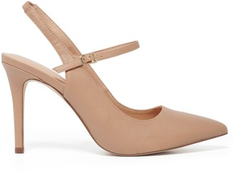 Forever New Arden Strap Court Shoe - Taupe - 36
