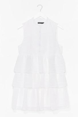 Nasty Gal Womens Tier's to Never Growing Up Ruffle Mini Dress - White - 4