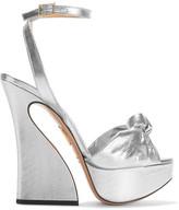 Charlotte Olympia Vreeland Lamé Platform Sandals - Silver