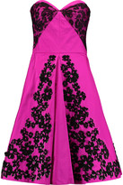 Oscar de la Renta Embellished faille dress