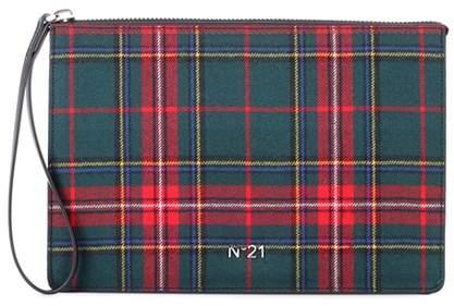 N°21 Plaid wool clutch
