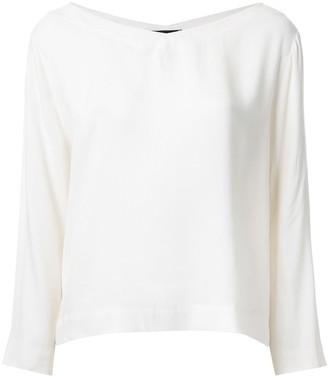 Roberto Collina double V-neck blouse