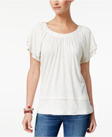 Style and Co Flutter-Sleeve Top, Only at Macy's