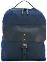 Ally Capellino Ian backpack - men - Leather/Cotton - One Size