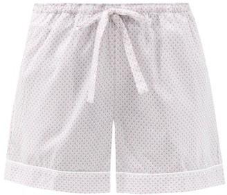 Derek Rose Ledbury 40 Geometric-print Cotton Pyjama Shorts - Pink Multi