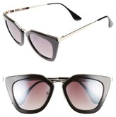 BP Women's Dejavu 51Mm Cat Eye Sunglasses - Black