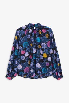 Monki Pleated neckline blouse