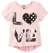 Dx-Xtreme Cinched Back Hi-Lo with Love Tee (Little Girls)