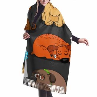 Gong Cute Bulldog Corgi and Pet Dogs Elegant Scarves Soft Cashmere Feel Pashmina Wrap Shawl for Woman Girl Ladies
