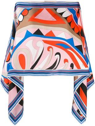 Emilio Pucci Geometric Print Tunic Top