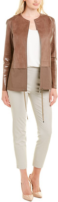 Lafayette 148 New York Albany Leather Topper