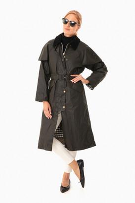 Barbour X Alexa Chung Alexa Chung Fern Northumberland Check Trudie Wax Jacket
