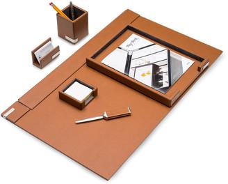 Bey-Berk 6-Piece Leather Desk Set