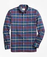 Brooks Brothers Yarn-Dyed Plaid Oxford Sport Shirt