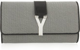 Yves Saint Laurent Chyc leather-trimmed metallic clutch